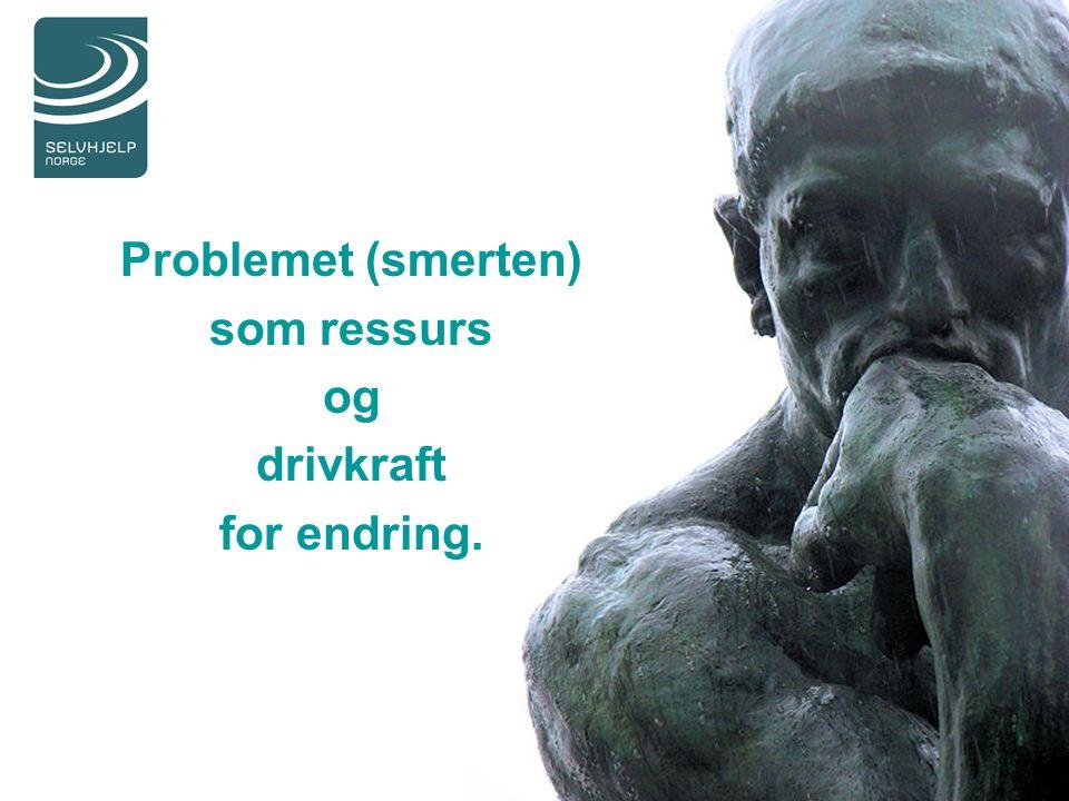 Problemet (smerten) som ressurs og drivkraft for endring.