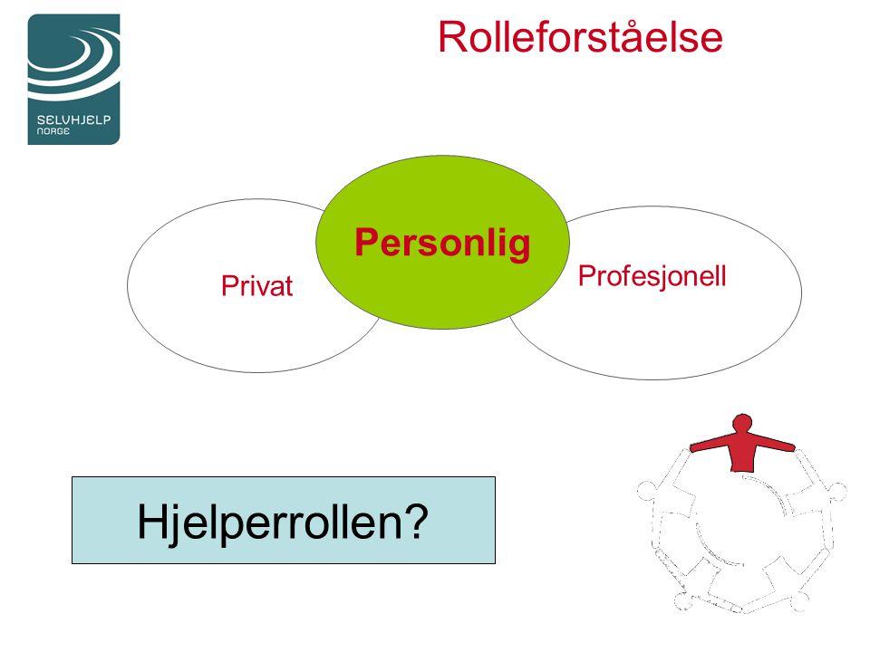 Rolleforståelse Privat Profesjonell Personlig Hjelperrollen?