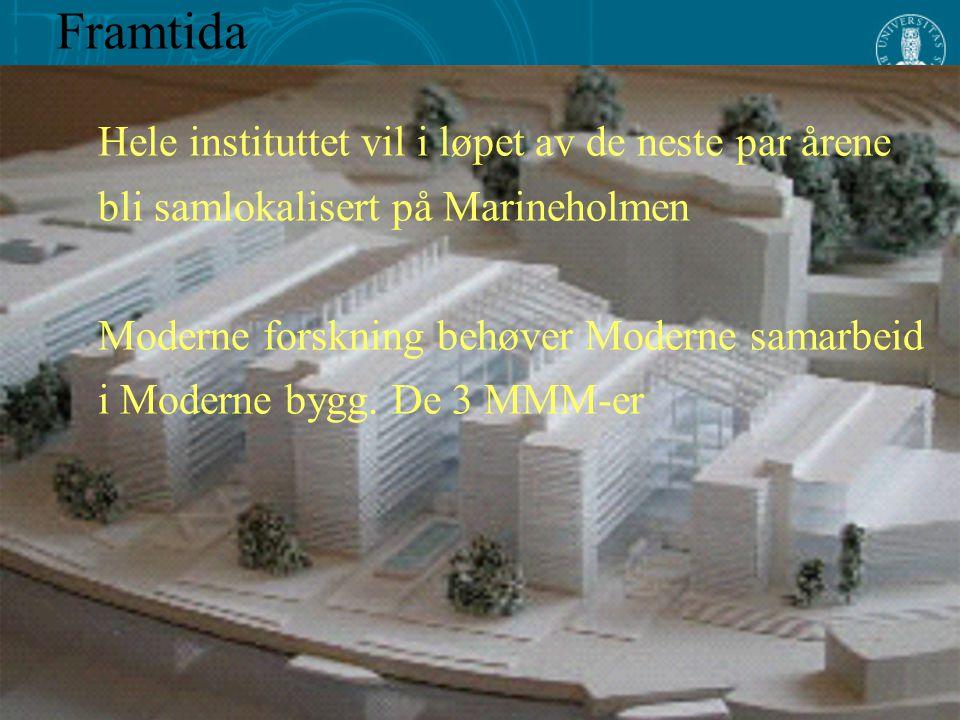 Hele instituttet vil i løpet av de neste par årene bli samlokalisert på Marineholmen Moderne forskning behøver Moderne samarbeid i Moderne bygg. De 3