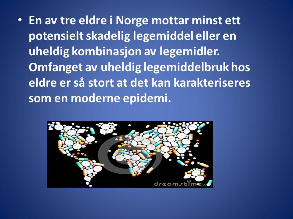 En av tre eldre i Norge mottar minst ett potensielt skadelig legemiddel eller en uheldig kombinasjon av legemidler. Omfanget av uheldig legemiddelbruk