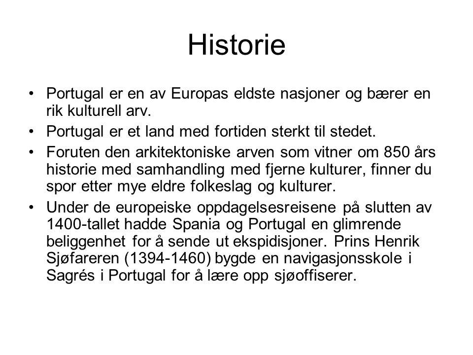 Historie Portugal er en av Europas eldste nasjoner og bærer en rik kulturell arv.