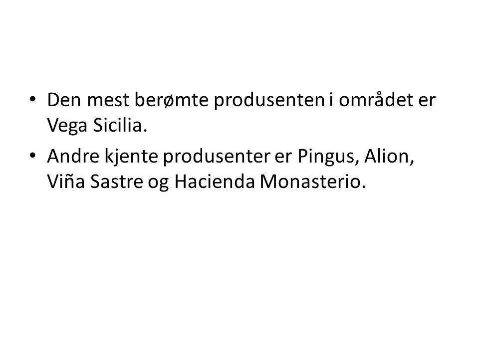 Den mest berømte produsenten i området er Vega Sicilia. Andre kjente produsenter er Pingus, Alion, Viña Sastre og Hacienda Monasterio.
