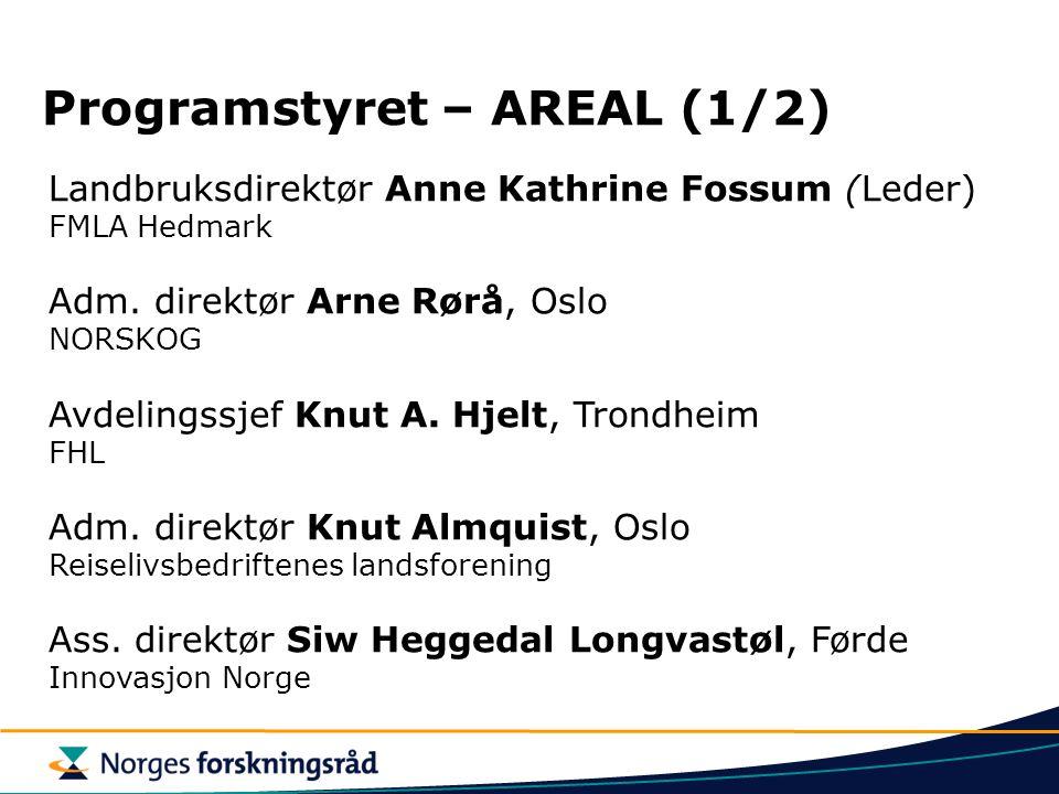 Landbruksdirektør Anne Kathrine Fossum (Leder) FMLA Hedmark Adm. direktør Arne Rørå, Oslo NORSKOG Avdelingssjef Knut A. Hjelt, Trondheim FHL Adm. dire