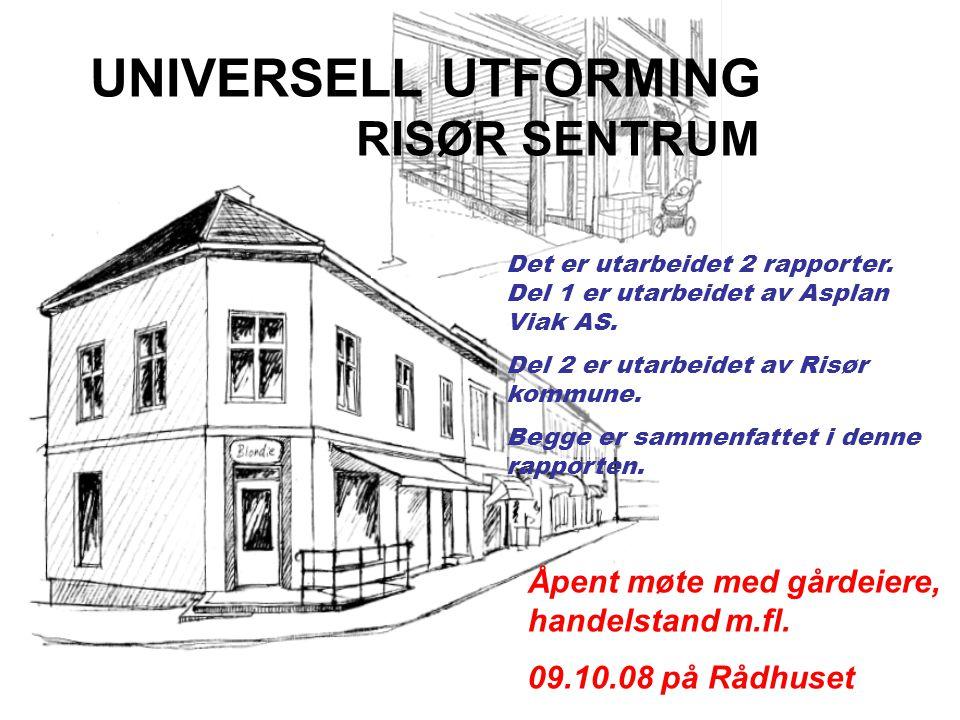 Det er utarbeidet 2 rapporter. Del 1 er utarbeidet av Asplan Viak AS. Del 2 er utarbeidet av Risør kommune. Begge er sammenfattet i denne rapporten. U