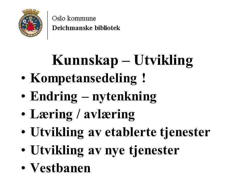 Kunnskap – Utvikling Kompetansedeling .