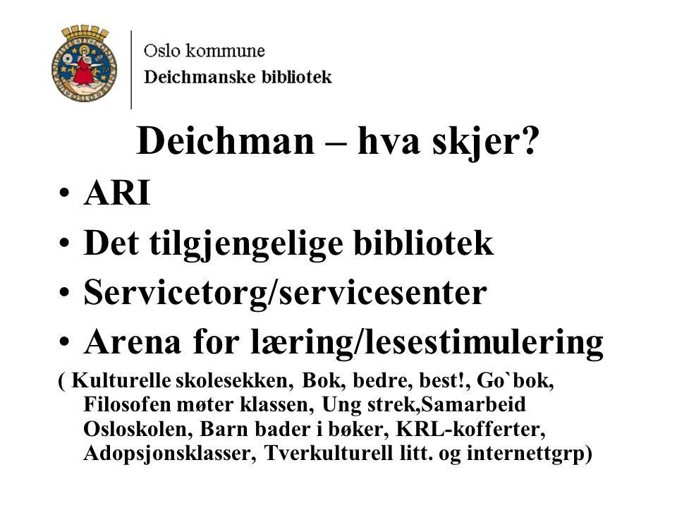 Deichman – hva skjer.