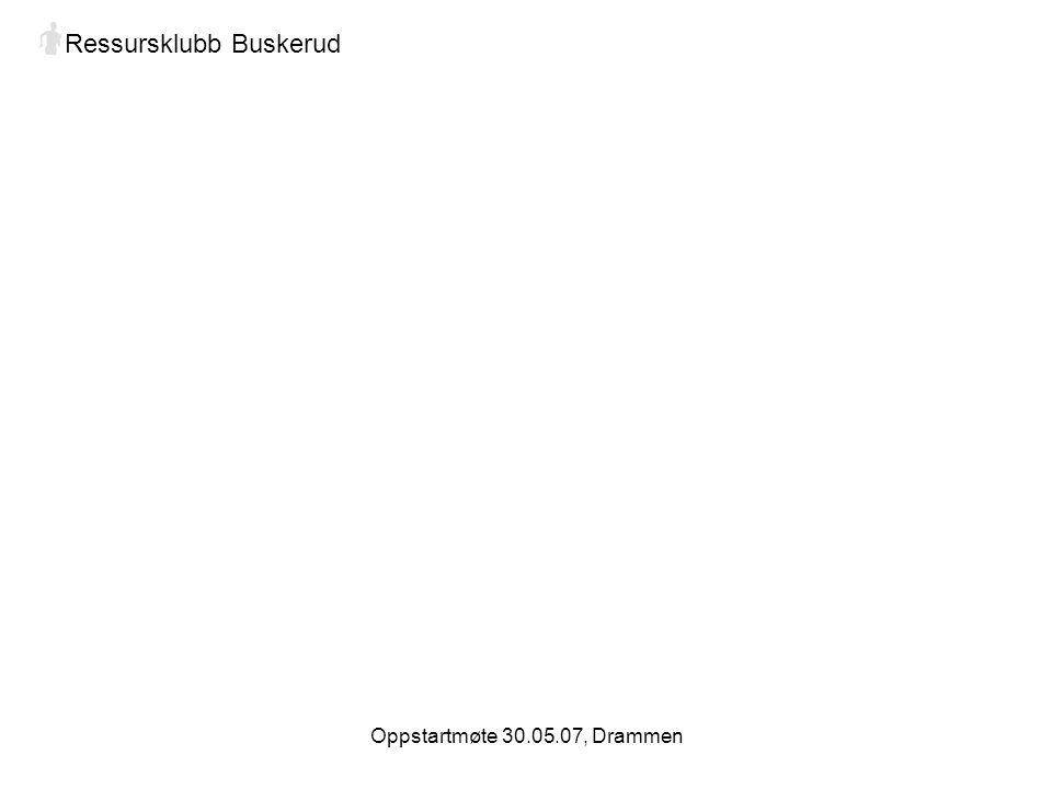 Oppstartmøte 30.05.07, Drammen Ressursklubb Buskerud