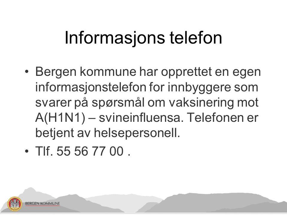 Infoskriv Det ble sendt ut informasjonsskriv til brukere av en rekke kommunale tjenester.