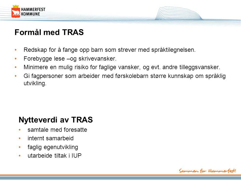 Praktisk TRAS skal gjennomføres og tolkes på bakgrunn av daglig samspill.