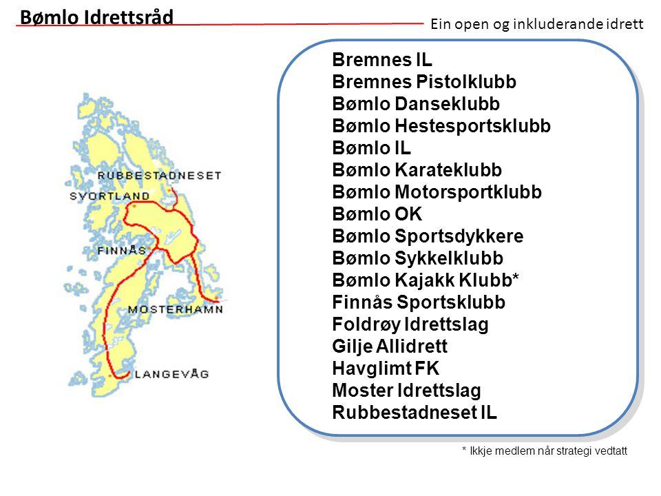 Bremnes IL Bremnes Pistolklubb Bømlo Danseklubb Bømlo Hestesportsklubb Bømlo IL Bømlo Karateklubb Bømlo Motorsportklubb Bømlo OK Bømlo Sportsdykkere B