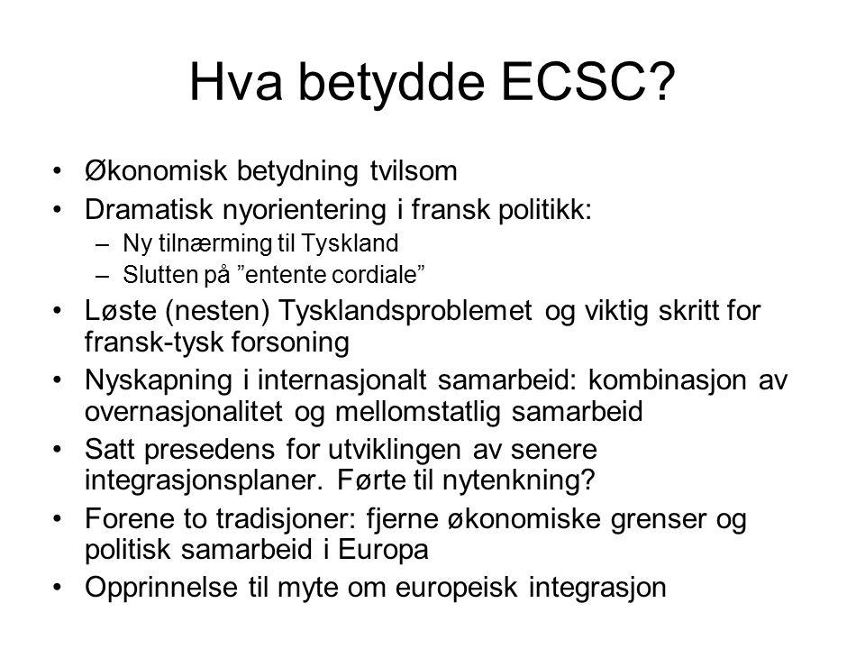 Hva betydde ECSC.