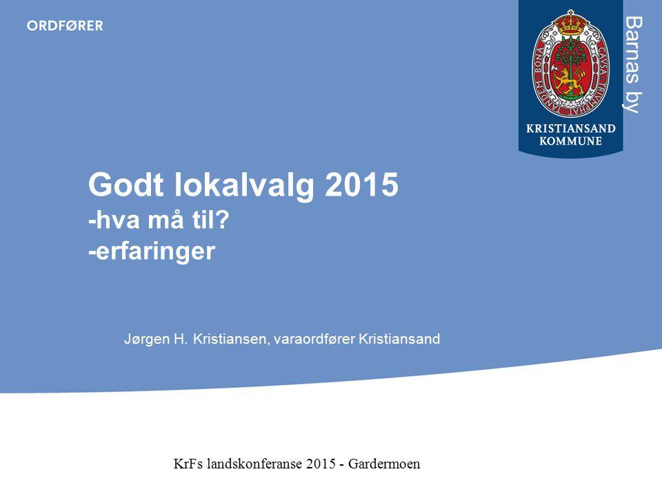 Sterk korrelasjon mellom nasjonalt og lokalt resultat Oversikt over lokalvalget i Kristiansand og KrFs nasjonale oppslutning