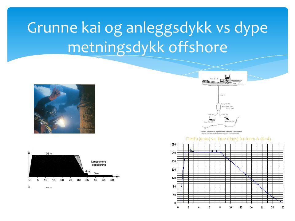Grunne kai og anleggsdykk vs dype metningsdykk offshore