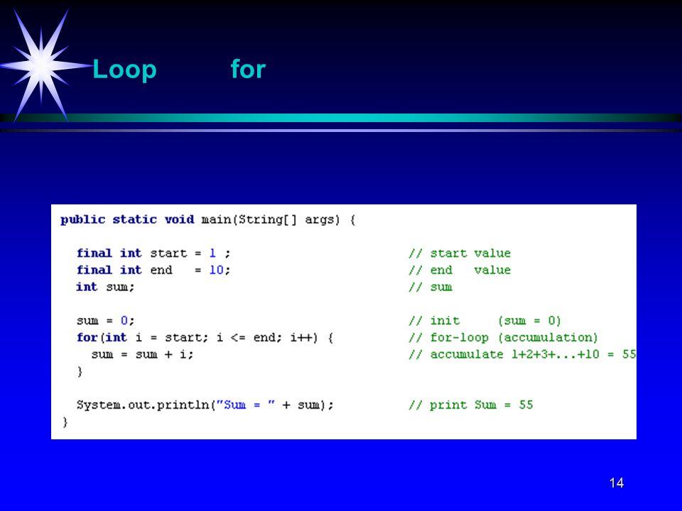 14 Loop for