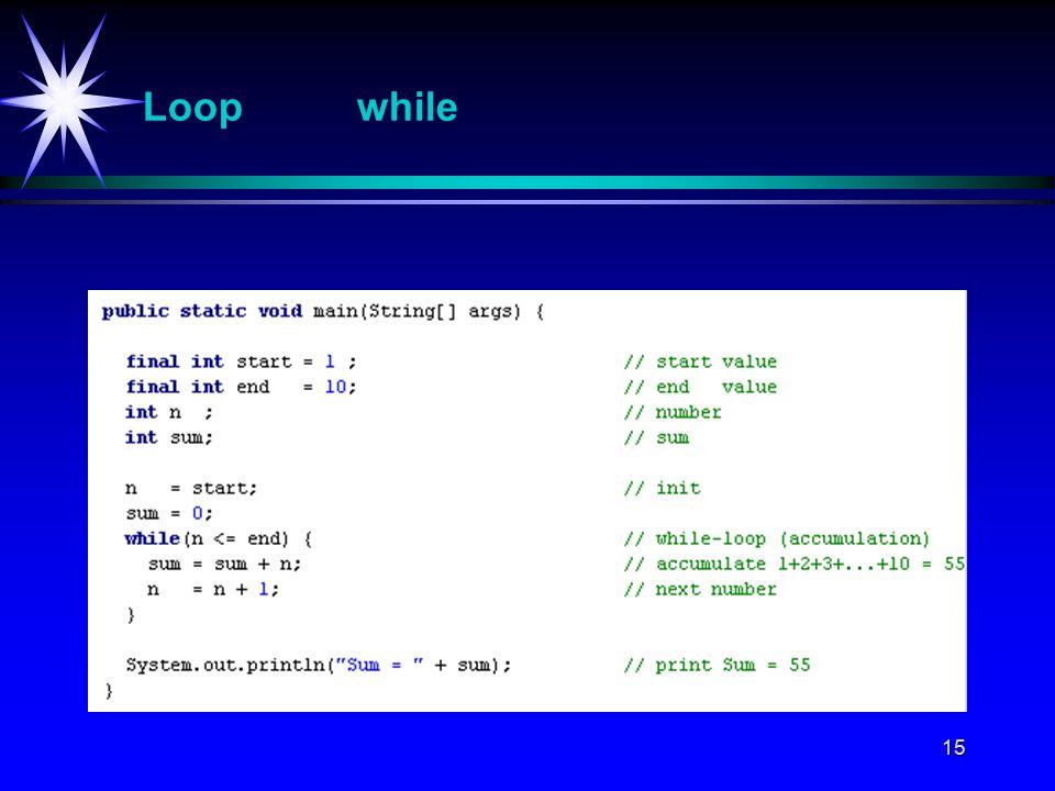 15 Loop while