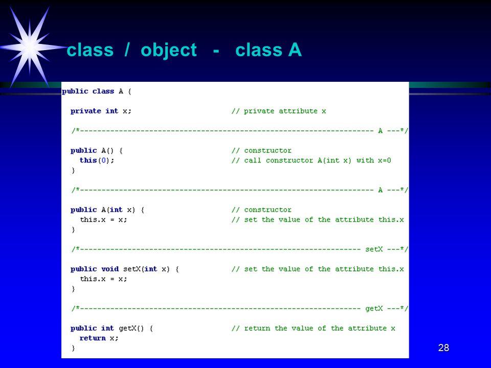 28 class / object - class A