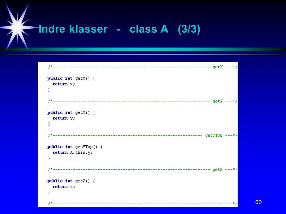 60 Indre klasser - class A (3/3)