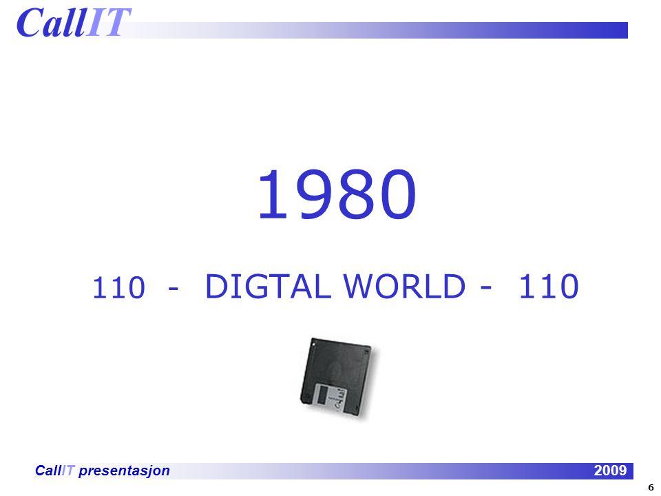 CallIT presentasjon2009 1980 110 - DIGTAL WORLD - 110 6
