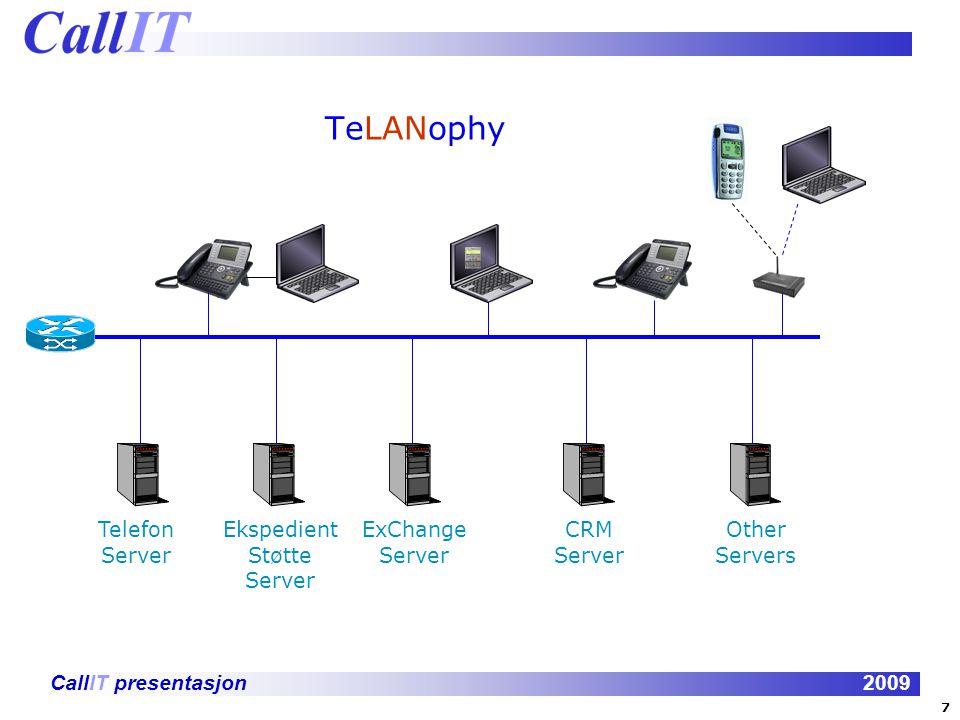 CallIT presentasjon2009 Tilgang fra mobiltelefonen: Unified Communication er også tilgjengelig fra din mobiltelefon.