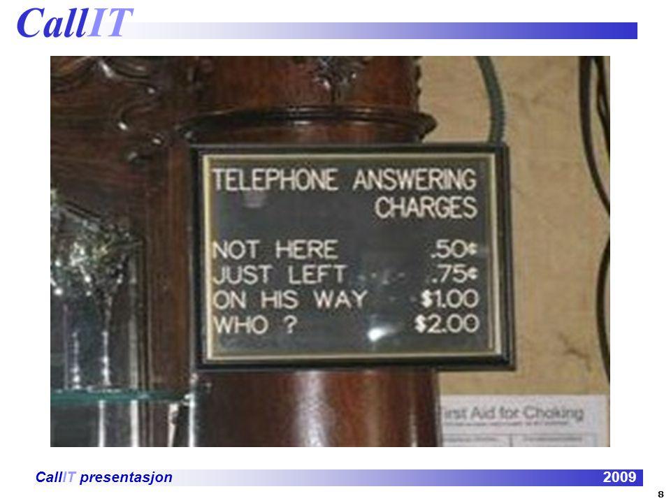 CallIT presentasjon2009 1992 Integrated Services Digital Network 9