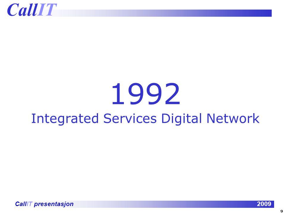 CallIT presentasjon2009 VISIT voice, video, filetransfer and share in 1992!!!! 10