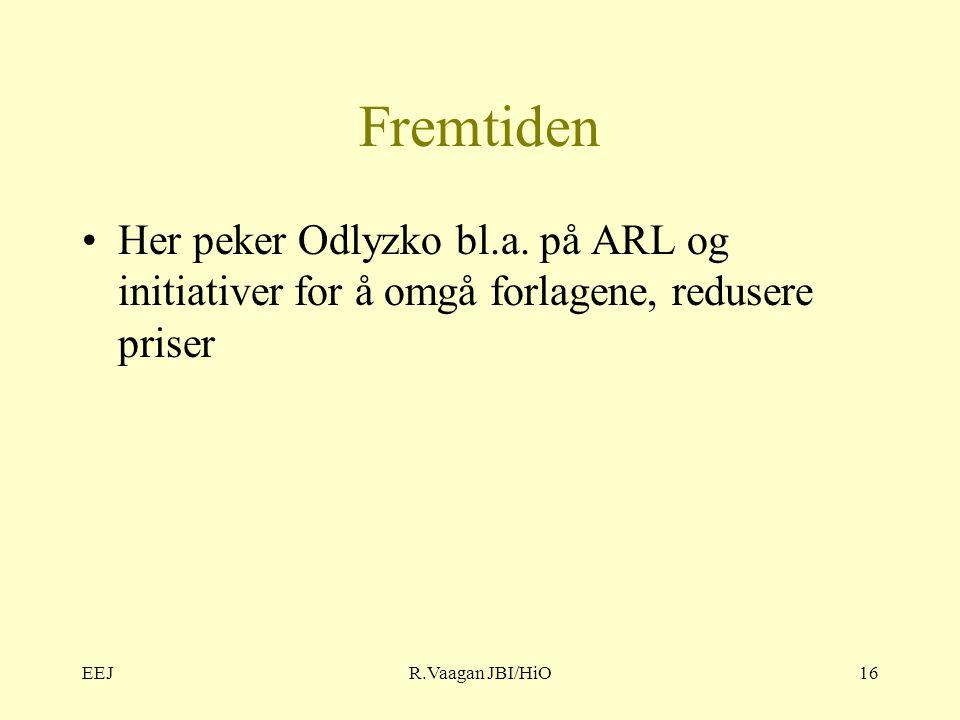 EEJR.Vaagan JBI/HiO16 Fremtiden Her peker Odlyzko bl.a.