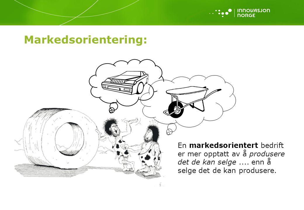 Markedsorientering: En markedsorientert bedrift er mer opptatt av å produsere det de kan selge....