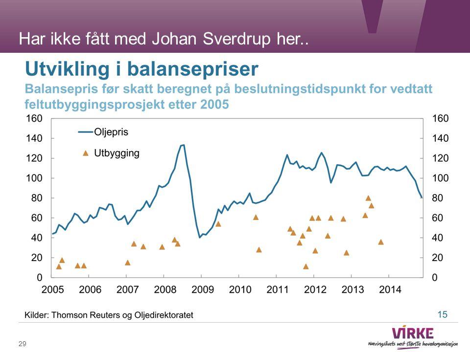 Har ikke fått med Johan Sverdrup her.. 29