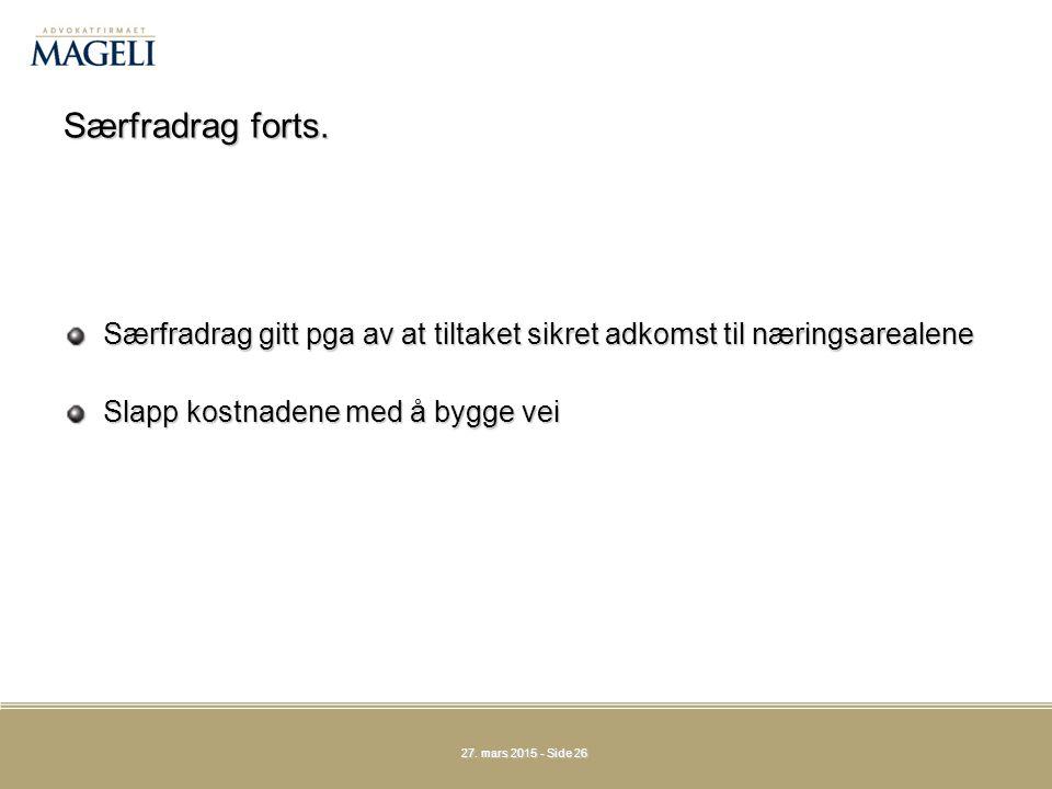 27.mars 201527. mars 201527. mars 2015 - Side 26 Særfradrag forts.