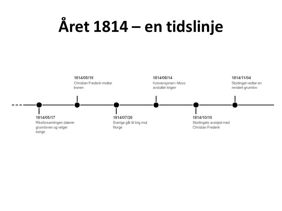 10.oktober 1814 Etter nye valg åpner Stortinget for første gang i Christiania 8.