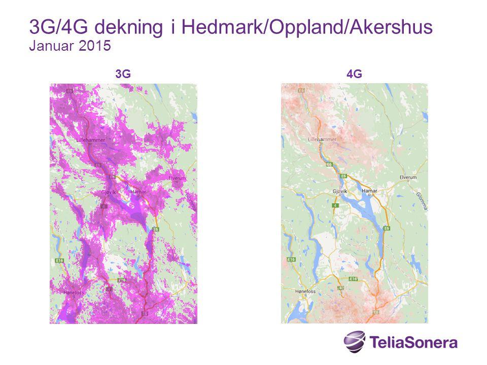 3G4G 3G/4G dekning i Hedmark/Oppland/Akershus Januar 2015