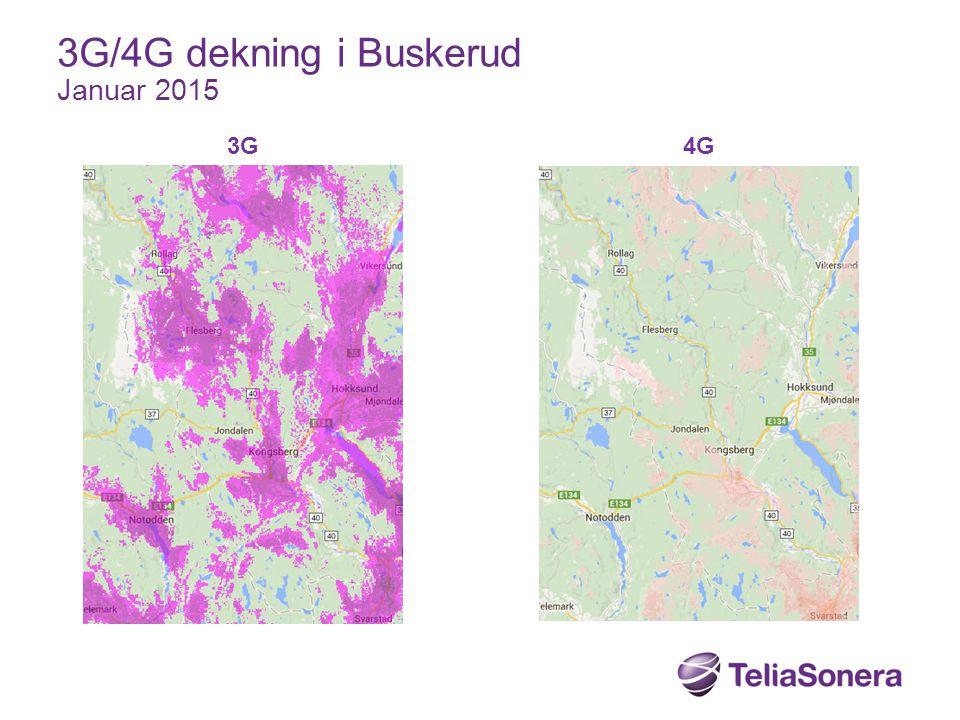 3G4G 3G/4G dekning i Buskerud Januar 2015