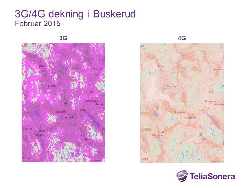 3G4G 3G/4G dekning i Buskerud Februar 2015