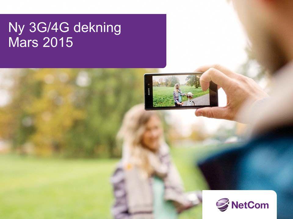 Ny 3G/4G dekning Mars 2015