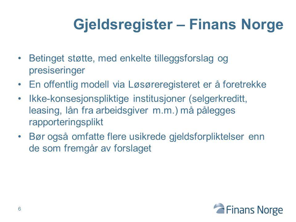 7 Beredskap ( eks fra større bank ) Betalingsproblem 1.