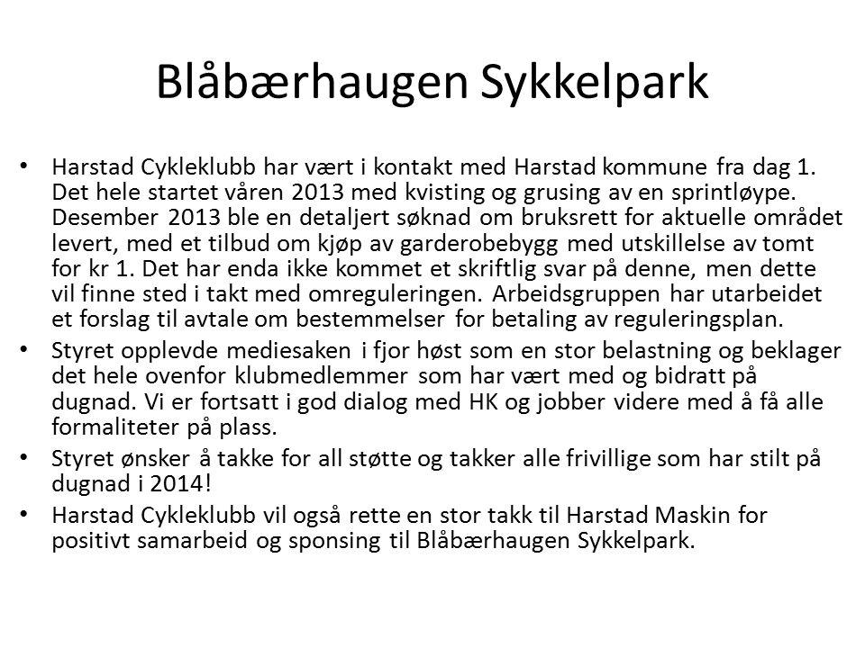 Blåbærhaugen Sykkelpark Harstad Cykleklubb har vært i kontakt med Harstad kommune fra dag 1. Det hele startet våren 2013 med kvisting og grusing av en