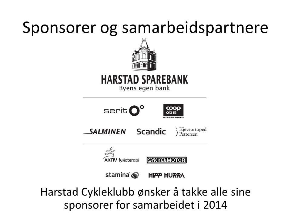 Sponsorer og samarbeidspartnere Harstad Cykleklubb ønsker å takke alle sine sponsorer for samarbeidet i 2014