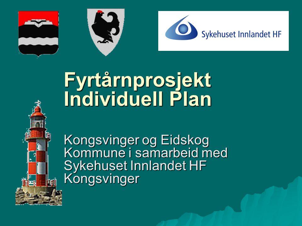Fyrtårnprosjekt Individuell Plan Kongsvinger og Eidskog Kommune i samarbeid med Sykehuset Innlandet HF Kongsvinger