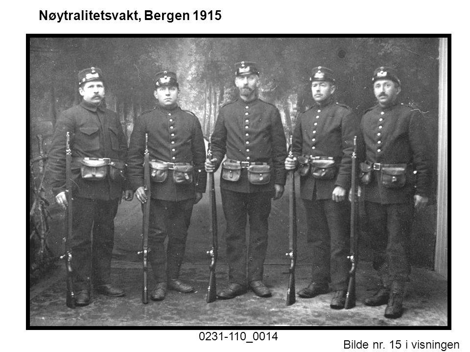 Bilde nr. 15 i visningen Side 15 Nøytralitetsvakt, Bergen 1915