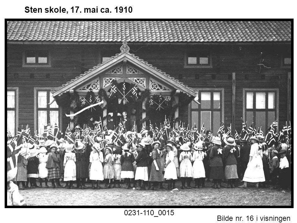 Bilde nr. 16 i visningen Side 16 Sten skole, 17. mai ca. 1910
