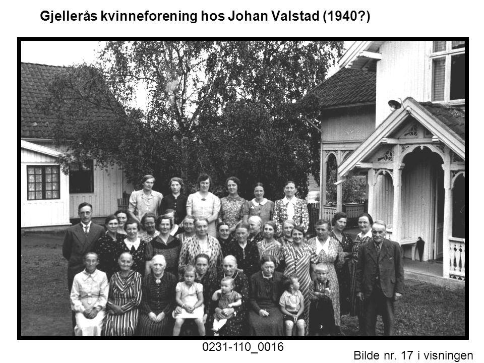 Bilde nr. 17 i visningen Side 17 Gjellerås kvinneforening hos Johan Valstad (1940?)