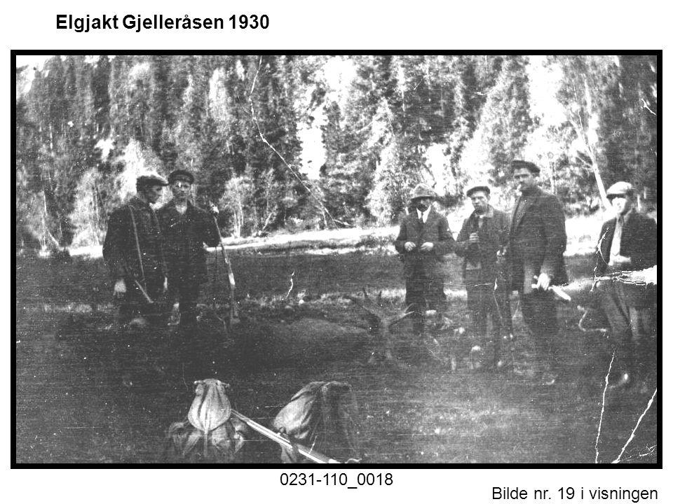 Bilde nr. 19 i visningen Side 19 Elgjakt Gjelleråsen 1930