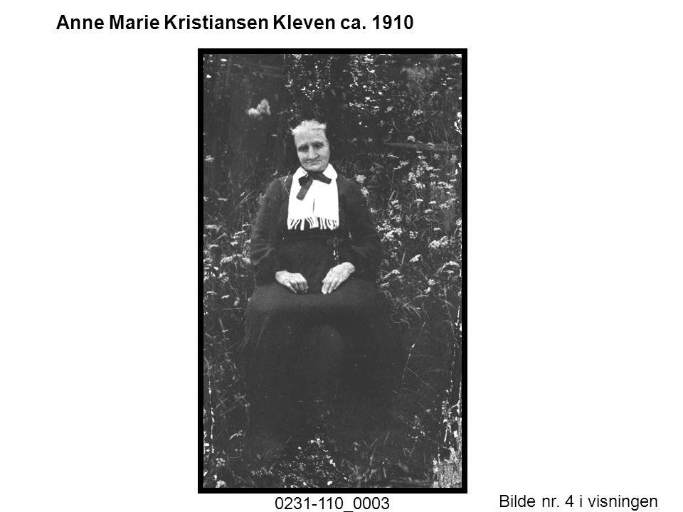 Bilde nr. 4 i visningen Side 4 Anne Marie Kristiansen Kleven ca. 1910