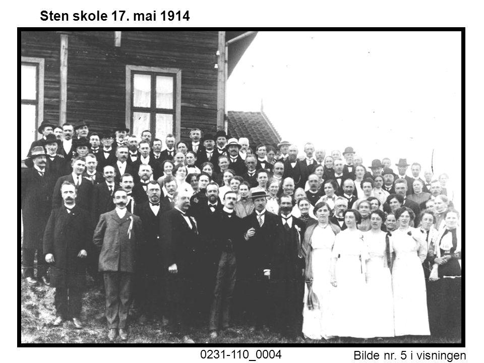 Bilde nr. 5 i visningen Side 5 Sten skole 17. mai 1914