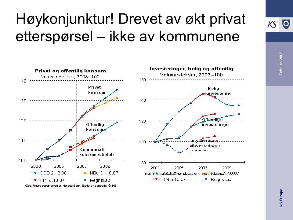 KS Europa Februar 2008 Høykonjunktur! Drevet av økt privat etterspørsel – ikke av kommunene