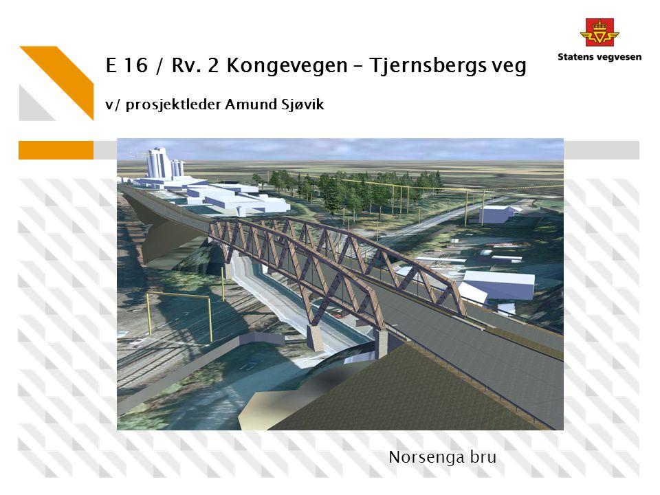 E 16 / Rv. 2 Kongevegen – Tjernsbergs veg v/ prosjektleder Amund Sjøvik Norsenga bru