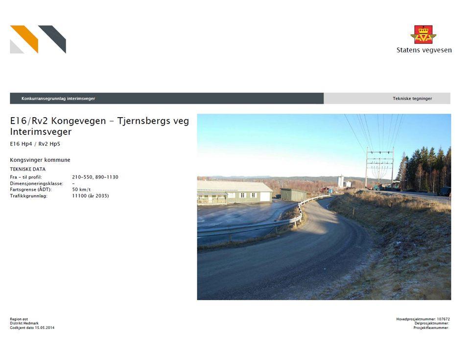 E 16 / Rv 2 Kongevegen Kongevegen – Tjernsbergs veg