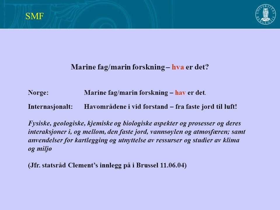 Marine fag/marin forskning – hva er det. Norge: Marine fag/marin forskning – hav er det.