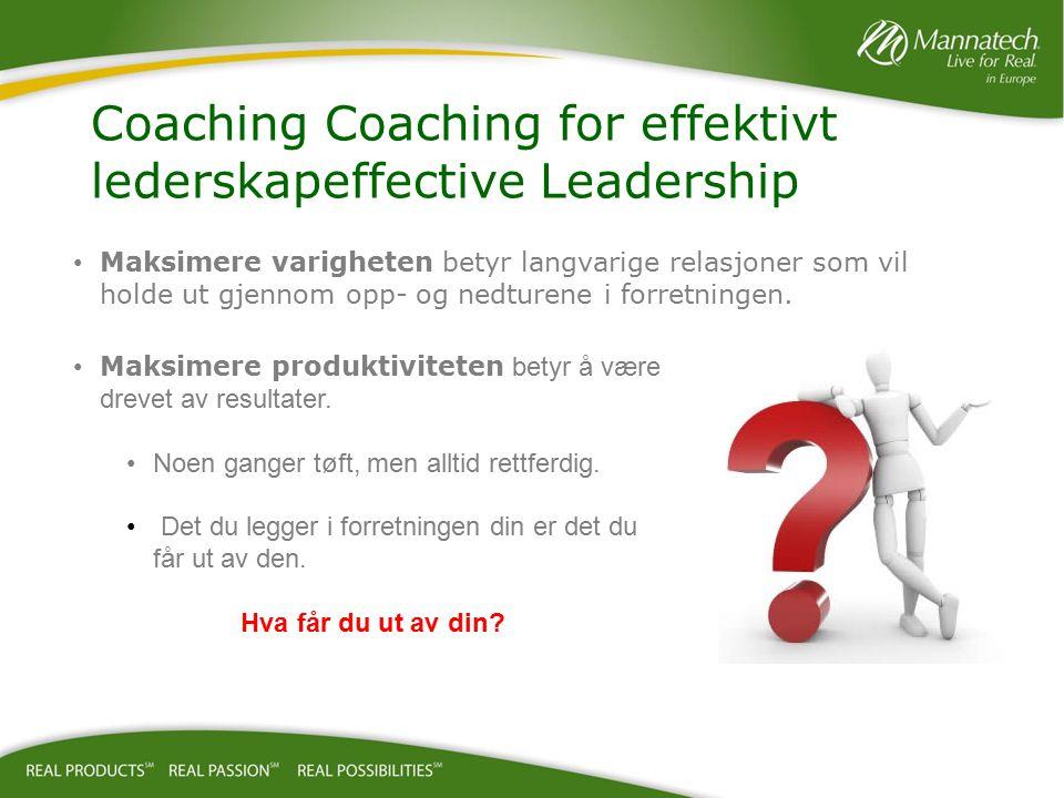Coaching og mentorvirksomhet hjelper deg å bli og forbli tilknyttet.