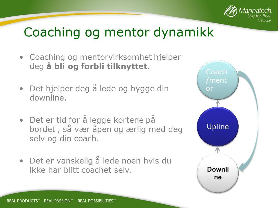 Coaching og mentorvirksomhet hjelper deg å bli og forbli tilknyttet. Det hjelper deg å lede og bygge din downline. Det er tid for å legge kortene på b